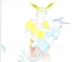 Eeveelution Couples: Jolteon and Vaporeon by Mikey-Spillers