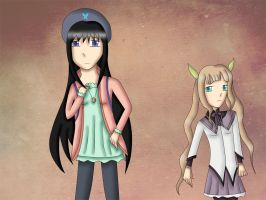 Tales of Magica: Homura and Elle by bogidream