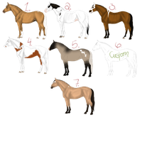 Horse Adoptables-March by AStormOfSwords