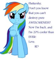 Rainbow Dash Is Back and She's 20% Cooler by Elliums
