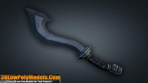 Sword #4 3D Low Poly | 3DLowPolyModels.Com by 3dlowpolymodels