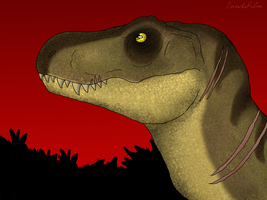 Tyrannosaurus Rex: True Queen of Isla Nublar by PandaFilmsG