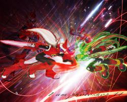 Protoman vs Zero by Iamphotoshop