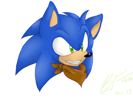 Sonic Head Practise by Black-flame1826