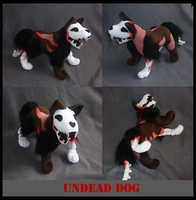 Halloween plush 2011: Undead dog by goiku