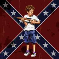 Portrait of the Artist as a Young Redneck by paintpixelprint