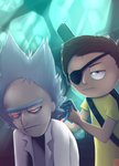 Evil Rick and Morty by Hone-Jasere