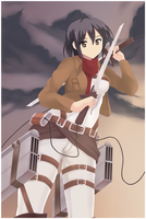 Attack On Titan - Mikasa by soruyuki