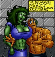 SheHULK meets theTHING01 by misterprickly
