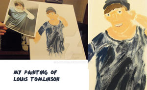 My Painting of Louis Tomlinson by iluvlouis