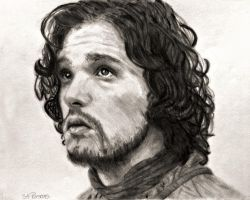 Jon Snow in Game of Thrones by SHParsons