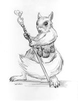 Squirrel Mage by Stungeon