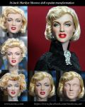 Marilyn Monroe custom doll transformation by noeling