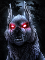 Monster Monday - Barghest by UKthewhitewolf