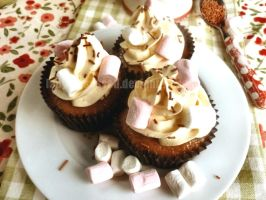 Hot-Chocolate Cupcakes by lady-obsessed