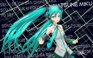 Hatsune 'World is Mine' Miku by RizkyZRs
