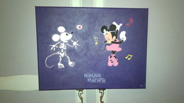 Christmas gift done : Mickey And Minnie mouse by Sandrisa