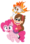 Pinkie and Mabel Versus The Universe by PixelKitties