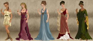 Goddesses of Olympus by grego23