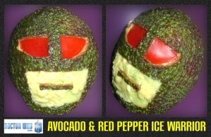 Avacado and Red Pepper Ice Warrior by mikedaws