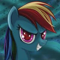 Evil Rainbow Dash by Cloudfirewarrior