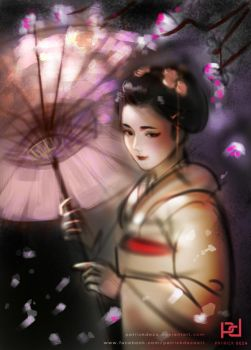 Geisha Sketch by patrickdeza