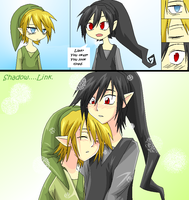 Shadow x Link: Too tired by CrazedKitty-meow