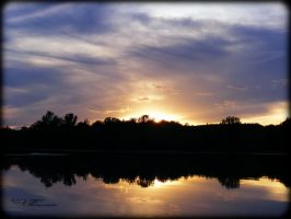 Lake Lakota Sunset Colors II by tjsviews
