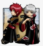 Gaara and Sasori-BLACK IS BACK by Red-Priest-Usada