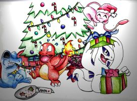 A Very Poke' Christmas by Chibi-Dragoness