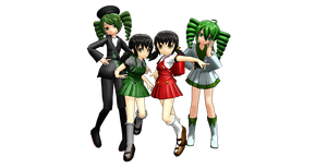 Thanks for 250 watchers! MMD MODEL PACK by KEdd-P