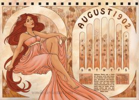 Mucha Inspired Calendar 02 by Wowiie