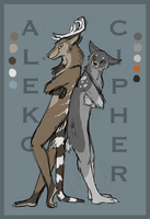 Aleko and Cipher by Painted-Shadow