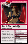 Fallen Wing Trading Card by Dualmask