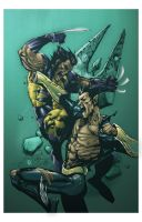 Wolverine vs. Namor by spidermanfan2099