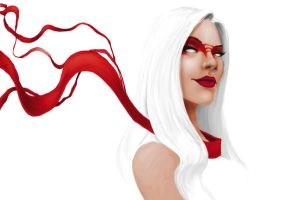 Red Scarf speed paint by MetGod