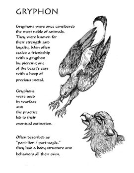 Beastiary Entry #1 - Gryphon by Shadsie