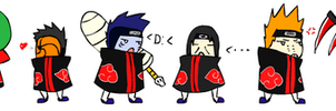 Akatsuki Line up by ritishique