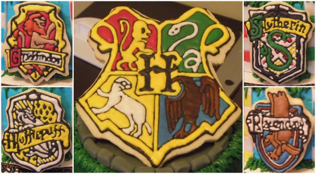 Harry Potter Crest Cookies by Afina79