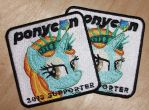 Ponycon Supporter Patches by EthePony