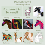 2012 Art Summary by DovieCaba