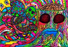 Shrooms' brain by psychedelic-hipster