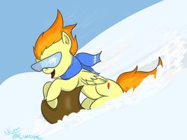 Sledding Spitfire (yes, Anneli Heed again) by Cwossie
