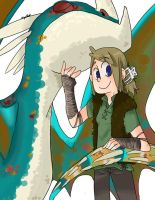 HTTYD. Deadly Nadder and Me by ilovezimandgir123