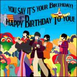 Beatles Birthday Card  wall/paper by medek1