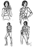 Molly Millions Sketches by fmralchemist