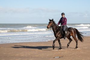 My wife riding Pip by TLO-Photography