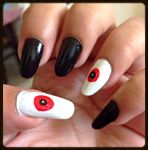 Last Minute Halloween nails by Gorgeousnails