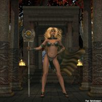 Sorceress of the Temple by faegatekeeper
