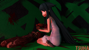 Saya...what are you eating...? (Real world view) by Saskeni